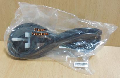 UK Strom Netz Kabel Power Cable 2m UK Stecker auf Kaltgerätebuchse C13* pz814