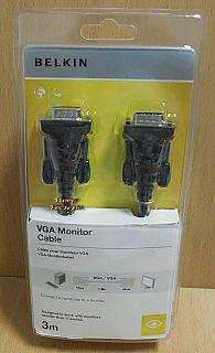 Belkin F2N028cp VGA Kabel 3m SUB D 15pol Stecker Monitor LCD LED TV Laptop*pz815