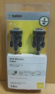 Belkin F2N028cp VGA Kabel 1,8m SUB D 15pol Stecker Monitor LCD LED TV PC* pz816