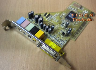 MS-Tech CMI8738 Soundkarte PCI 5.1 6 Channels Sound Windows XP Vista 7 s28