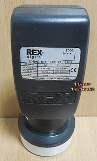 Rex digital Universal Single LNB 40mm digital 0,3 dB Low High Band* so898