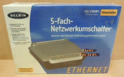 Belkin F5D5131de5 5 port Switch LAN Ethernet 5 fach Netzwerk NEU OVP* nw542