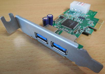 2 Port USB 3.0 PCIe PCI Express Karte Acer PA.14000.067 RA354E 5 low profil*sk56
