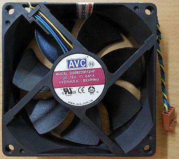 AVC DS09225R12HP045 HP PN 453077-001 Gehäuse Lüfter 92mm Hydrauliklager* GL125