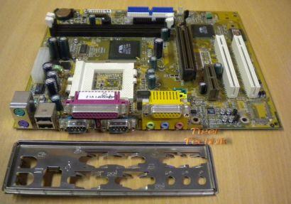 MSI MS-6323 Ver:1 mit Blende FSC-OEM FSB133 AGP 4x Sound 3x PCI Sockel 370*m99