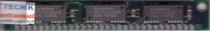 GoldStar GMM791000NS70 1MB SIMM 30 pin Parity GM71C4400AJ70 Arbeitsspeicher*r774