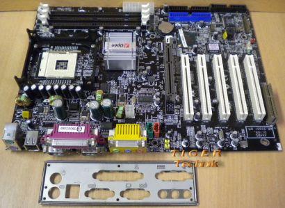 AOpen AX4BS Mainboard mit Blende * Sockel 478 * FSB400 * PC133 * AGP4x * m104