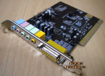 CMI8738 PCI Soundkarte 6-Channels 5.1 Sound Windows XP Vista 7 s38
