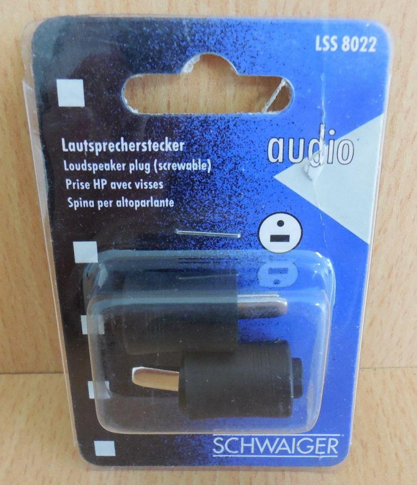 2x Lautsprecherstecker Lautsprecher Stecker zum Schrauben