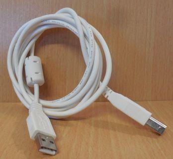 USB 2.0 Kabel weiß 1,8m Typ A Stecker Typ B Stecker Drucker Scanner etc.* pz717