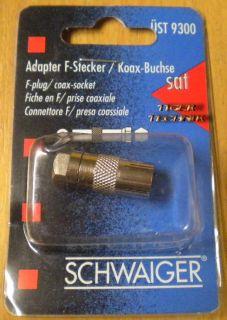 Schwaiger ÜST 9300 SAT Adapter F-Stecker  Koax-Buchse* so54