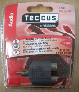 Teccus by Vivanco Audio Y Adapter Cinch Stecker - 2x Cinch Buchse* so56