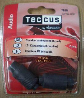 Teccus by Vivanco 2 Stück LS-Kupplung Lautsprecher Kupplung schraubbar* so66