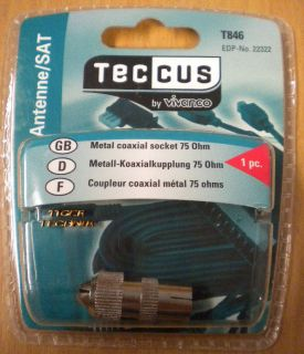 Teccus by Vivanco Video Metall Koaxialkupplung 75 Ohm* so71