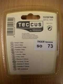 Teccus by Vivanco Video 8 Stück 8x F-Stecker für Koax-Kabel 7mm* so73