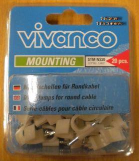 Vivanco 20x Nagelschellen zum Festverlegen von Koaxialkabeln bis 7mm 20pcs*so75