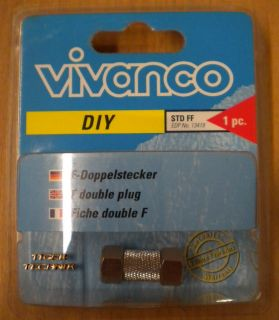 Vivanco DIY SAT F-Doppelstecker Metall hohe Qualität* so76
