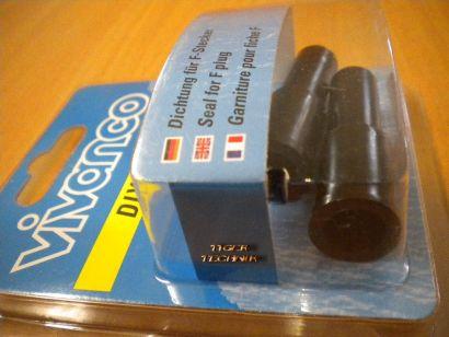 Vivanco DIY 2 Stück 2x Gummitülle Dichtung für F-Stecker hohe Qualität* so87