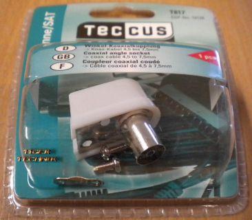 Teccus by Vivanco SAT Winkel Koaxialkupplung - Koax-Kabel 4,5 bis 7,5mm* so88