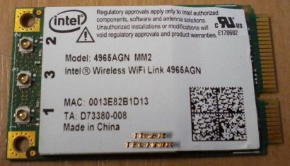 Intel Wireless WiFi Link Karte 4965AGN MM2 für Laptops z.B. Samsung NP-R70 nb14