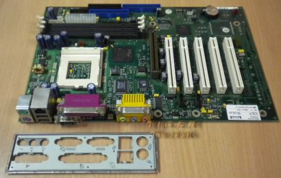 Fujitsu Siemens D1219-D21 GS1 Mainboard mit Blende - So 370 LAN Audio USB m111