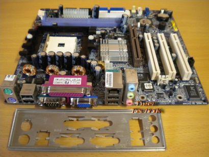 Gigabyte K8VM800MAE Mainboard + Blende Sockel 754 für Acer Aspire T135* m114