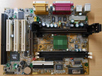 MSI MS-6156 Ver 2.1 BX7 Mainboard +Blende Intel Slot 1 FSB100 ISA AGP PCI* m117