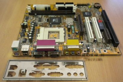 Epox EP-3VBM+ Rev 1.5 Mainboard +Blende Sockel 370 ISA AGP PCI SDRAM Audio* m131