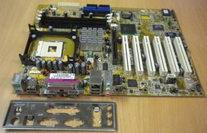 Asus P4PE-X/SE Mainboard + Blende Sockel 478 FSB533 Audio LAN AGP USB2.0 *m132