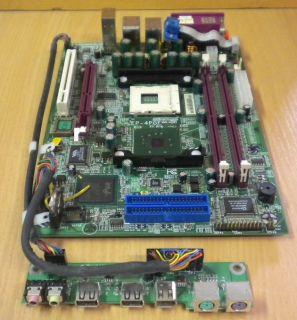 Epox EP-4PGF Mainboard + Blende + EP-XFP Panel für EX5 Barebone Sockel 478 *m136