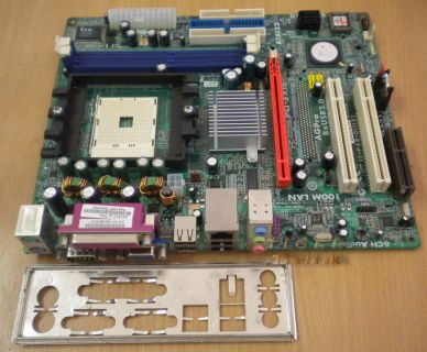 ECS Elitegroup GS7610 Ultra V:1.1c Mainboard + Blende Sockel 754 PCI-E 16X *m138