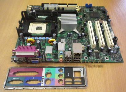 Dell 0R8060 Rev A01 Mainboard +Blende Dimension 3000 Ersatz Sockel 478* m142
