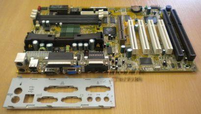 MSI MS-6151 Ver:1 Mainboard + Blende Slot 1 AGP PCI 2x ISA Video Audio uvm.*m143