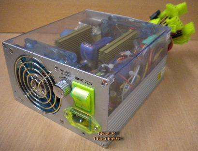 Levicom X-Alien Modding Netzteil VP 500S BL 500 Watt UV-Aktiv blue LED Fan*nt179