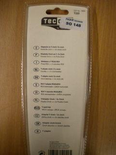 Teccus by Vivanco Audio Y-Adapter 0,2m Chinch Buchse - 2x Chinch Stecker* so148