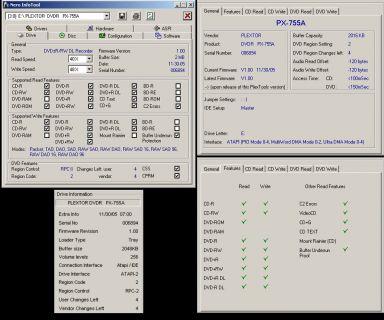 Plextor PX-755A DVD-RW DL Brenner ATAPI IDE beige* L54