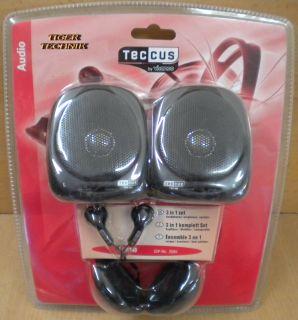 Teccus by Vivanco 3in1 Set 3,5mm Lautsprecher + Kopfhörer + In-Ear Hörer *so166