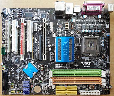MSI MS-7350 Ver1.0 P6N SLI Platinum Mainboard+Blende Sockel 775 nForce 650i*m159