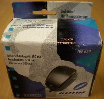 Schwaiger NG650 Universal-Netzgerät 500mA 3 V bis 12 V* nt717