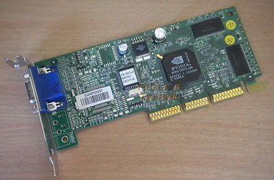 nVidia TNT2 Vanta Grafikkarte AGP4x 16MB Compaq 239920-001 Low Profile g18