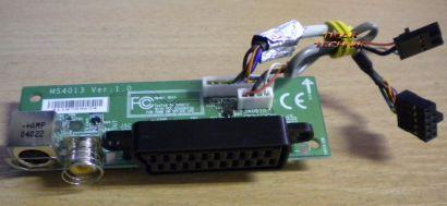 Medion Scart S-Video AV Modul mit Kabel MS4013 Ver 1.0* pz62