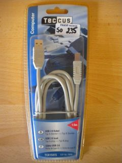 Teccus by Vivanco Computer USB 2.0 Kabel Typ A - Typ B Stecker 1,5m* so235