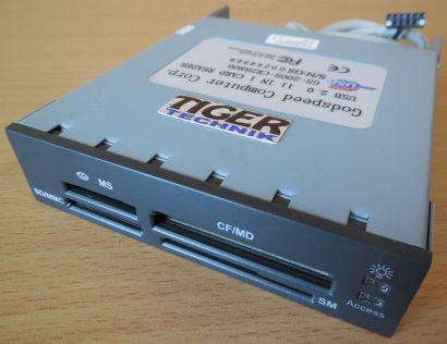 Godspeed Computer USB 2.0 GS-2005-CR28806 11in1 Kartenlesegerät schwarz* kl03
