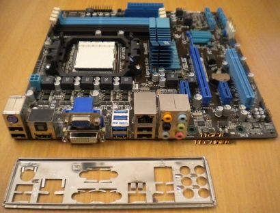 Asus M4A88T-M,USB3 Mainboard Sockel AM3 HD 4250 GPU onboard mit Blende*m168