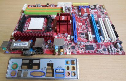 MSI MS-7388 Ver. 1.0 Mainboard K9A2 CF Sockel AM2 DDR2 + Blende* m180