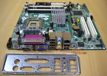 HP Compaq dc5100 Rev A01 Mainboard +Blende 403714-001 398550-001 Sockel 775*m190