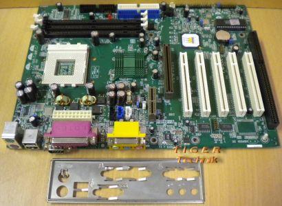 QDI KinetiZ 7B Rev 2.0(S2.2) Mainboard +Blende Sockel A 462 1x ISA PCI AGP* m193