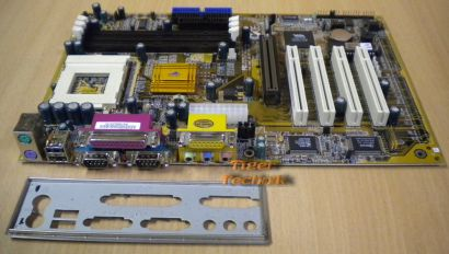 ECS Elitegroup P6VAP-A+ Rev. 1.1 Mainboard AGP PCI 2x Seriell + Blende* m207