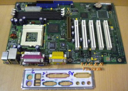FSC D1218-A21 GS 1 Mainboard + Blende Sockel 370 VGA LAN AGP 5xPCI Audio* m214