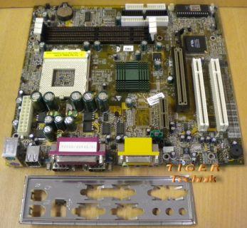 Biostar M7VKA Ver. 1.0 Mainboard Sockel 462 CNR AGP PCI + Blende* m215